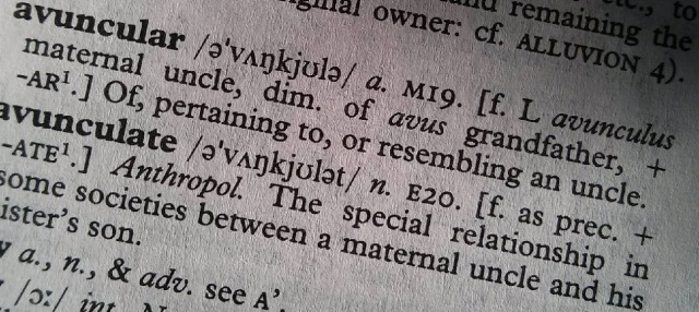 OED definition of avuncular